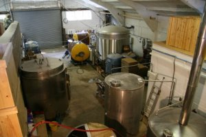 Brewing vats at Wold Top Brewery