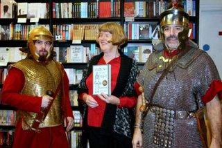 Roman soldiers at my booklaunch